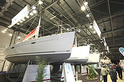 The Beneteau stand at the Collins Stewart London Boat Show 2008